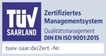 Siegel Qualitätsmanagement ISO 9001:2015
